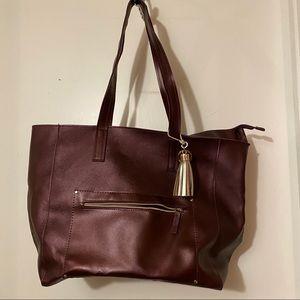Never used burgundy tote bag